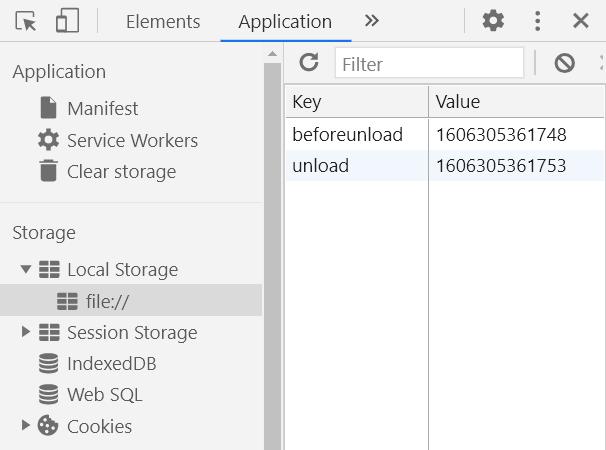 Событие unload в Chrome возникает